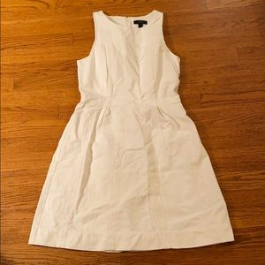 NEW J. Crew cotton piqué eyelet lace white dress
